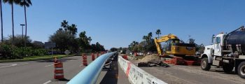 The wastewater diversion pipeline is under construction
